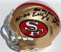 EDDIE DEBARTOLO SIGNED SAN FRANCISCO 49ERS MINI FOOTBALL HELMET PSA/DNA HOF