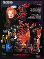A TIME TO DIE__Original 1991 Trade print AD promo__TRACI LORDS_Richard Roundtree