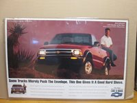 vintage 1993 Chevy Rick Johnson Rookie of the Year poster 11430