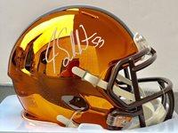 Joe Schobert Signed Autographed Cleveland Browns Chrome Mini Helmet Psa/Dna