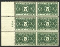 U.S. #JQ3 Mint NH PLATE BLOCK - 5c Parcel Post Postage Due