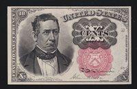 US 10c Fractional Currency Note Position B-40 FR 1266 GEM CU