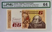 5 Pounds 1976-77 Ireland Republic ñ