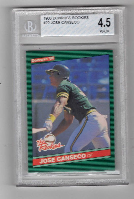 1986 Donruss Rookies Jose Canseco 22 Baseball Card Bvg 45 Vg Ex