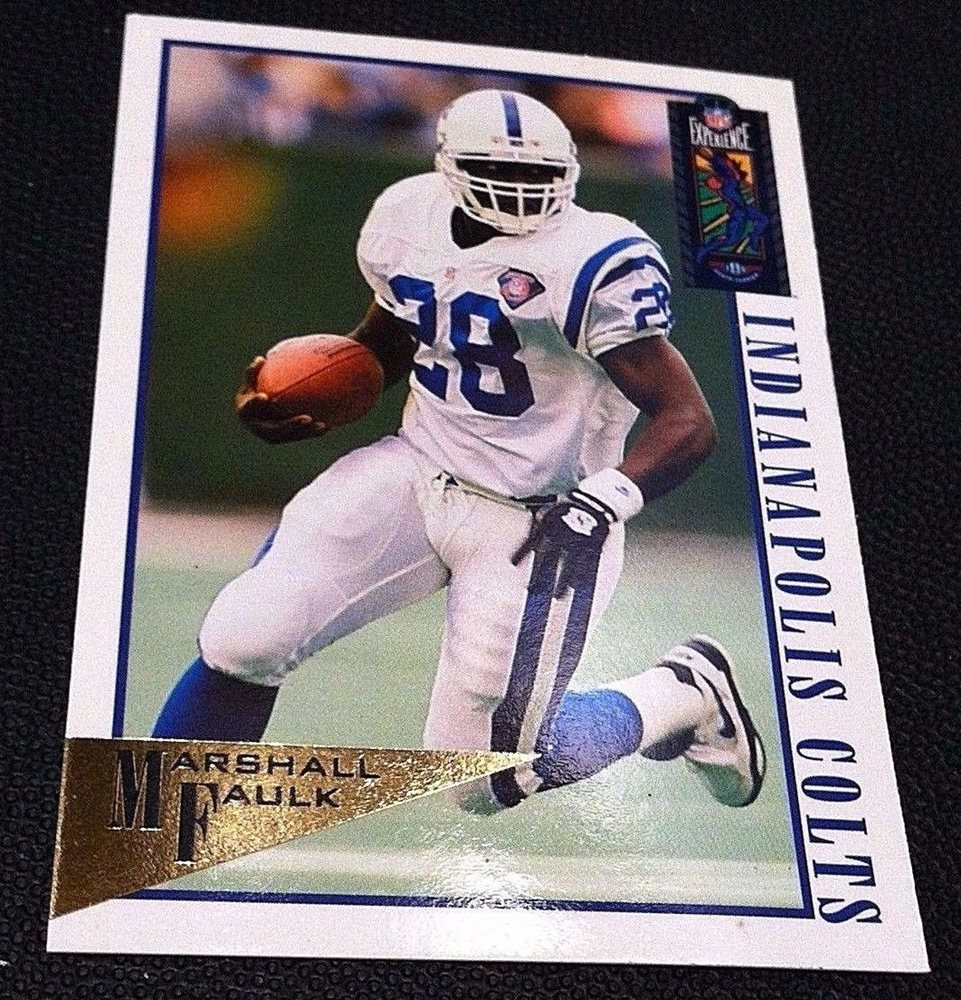 Marshall Faulk 1994 Classic Nfl Experience Gold Rookie Parallel Card Sp 41 Rare