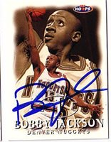 Bobby Jackson Hand-Signed Card With Certificate Of Authenticity