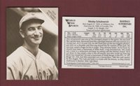 WES SCHULMERICH, Braves~1933 Conlon All-Stars 1988 The Sporting News/WWS-BSI