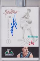 2015-16 PANINI REPLAY ROOKIE AUTO:ALEXEY SHVED #6/19 RC ON CARD AUTOGRAPH WOLVES