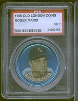 1965 Old London Coin Roger Maris PSA 7 (2196)