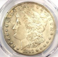 1892-S Morgan Silver Dollar $1 - Certified PCGS VF Details - Rare Date!
