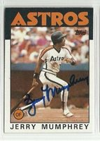 Jerry Mumphrey 1986 Topps signed auto autographed card Astros