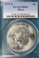 1971-S PCGS MS65 Eisenhower Silver Dollar!! #E1692