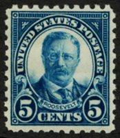 Scott 586, VF LH, 1924 5c blue