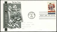 US FDC #1309 #M16 1st R. DeWitt Cachet Delavan, WI Circus