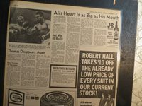 Boxing History Newspaper 1972 ALI'S HEART AS BIG AS HIS MOUTH FIGHT F PATTERSON