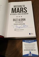 """BUZZ ALDRIN SIGNED AUTOGRAPHED """"MISSION TO MARS"""" BOOK 1st edition BECKETT COA"""