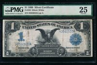 AC Fr 235 1899 $1 Silver Certificate PMG 25 comment