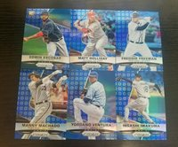 2015 Panini Prizm Blue Baseball Prizm Refractor Lot 6 EDWIN MATT FREDDIE MANNY .