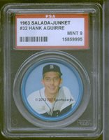 1963 Salada Coin 32 Hank Aguirre PSA 9 - $55.00