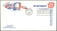 US FDC #U565 1st Department of Transportation Cachet Washington, DC