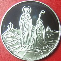 1984 VATICAN CITY 500 LIRE SILVER PROOF BIRTH BLESSED VIRGIN MARY BLUE CARD BOX