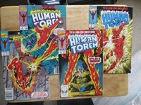 1990 HUMAN TORCH MINI SERIES SET 1-4 SIGNED 2X RICH BUCKLER & ROY THOMAS, POA