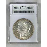 1880 S Morgan Dollar ANACS MS64 #432995