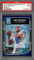 2016 panini donruss optic purple #162 DAK PRESCOTT dallas cowboys rookie PSA 9