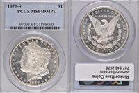 1879-S MS64 DMPL PCGS $1