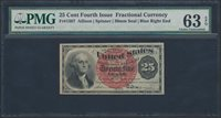 FR1307 35¢ 4TH ISSUE FRACTIONAL CURRENCY PMG 63 CHOICE UNC BR900