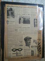 Baseball Micky Mantle Newspaper MICKEY PLANS TO STAY AWAY + JACKIE JENSEN