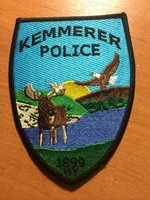 PATCH POLICE KEMMERER WYOMING WY STATE