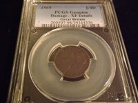 1865 1/4 D GREAT BRITAIN