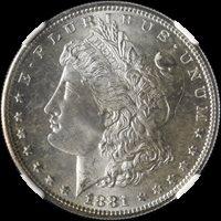 1881-S Morgan Silver Dollar NGC MS67 Great Eye Appeal Fantastic Luster