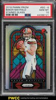 2018 Panini Prizm Stained Glass Baker Mayfield ROOKIE RC #SG-6 PSA 10 GEM (PWCC)
