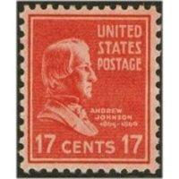 #822 17¢ Andrew Johnson