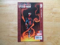 2004 ULTIMATE SPIDER-MAN # 59 SIGNED 2X MARK BAGLEY & SCOTT HANNA WITH POA