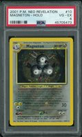 Pokemon Neo Revelation Magneton 10/64 PSA 4