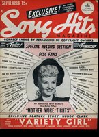 SONG HITS MAGAZINE BETTY GRABLE