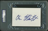 Chris Elliott Authentic Signed 4X6 Index Card Autographed PSA/DNA Slabbed