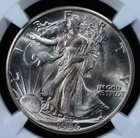 1936 D WALKING LIBERTY HALF DOLLAR NGC MS 65 LUSTROUS AND WELL STRUCK WHITE GEM