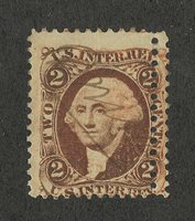 US # R15 (1862) 2c MHH - EFO: Double Perf/Misperf/Color Change