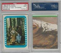 1983 Topps, Star Wars Return of Jedi Stickers, #50 Heroes on Endor, PSA 9 Mint