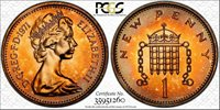 1971 GREAT BRITAIN ONE 1 PENNY PCGS PR67RD COLOR COIN ONLY 1 GRADED HIGHER