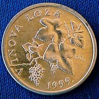 2 Lipe 1999. Croatian text - VINOVA LOZA, Aluminium - Croatia coin !