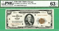 1929 $100 FRBN - PMG CU 63 with EPQ - Fr 1890-G CHICAGO - PMG CU 63 with EPQ