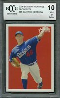 2006 bowman heritage prospects #85 CLAYTON KERSHAW rookie (CENTERED) BGS BCCG 10