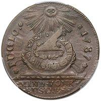 1787 Fugio Copper, STATES UNITED, Newman 18-U, R4, PCGS AU55, choice
