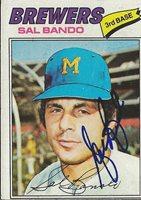 Sal Bando 1977 Topps Autograph #498 A's
