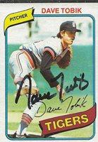 Dave Tobik 1980 Topps Autograph #269 Tigers